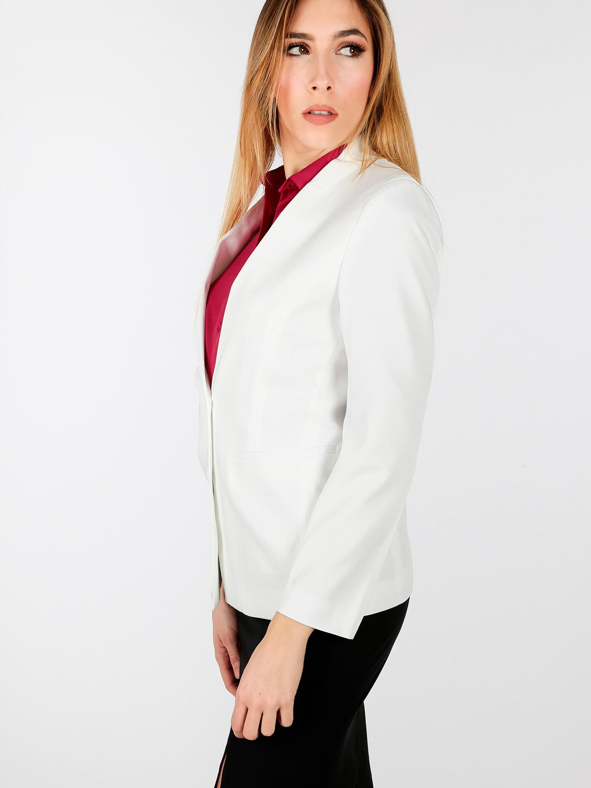 wholesale dealer 7b452 da391 Giacca bianca elegante radaus | MecShopping