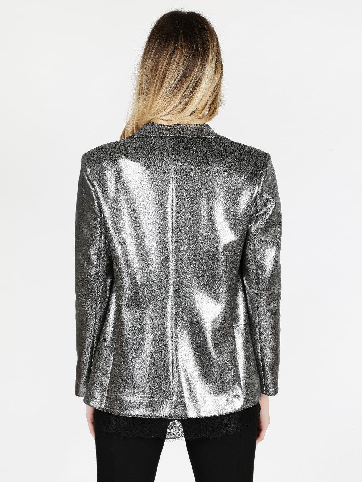 online store f84e4 903aa Giacca blazer argento lumina | MecShopping