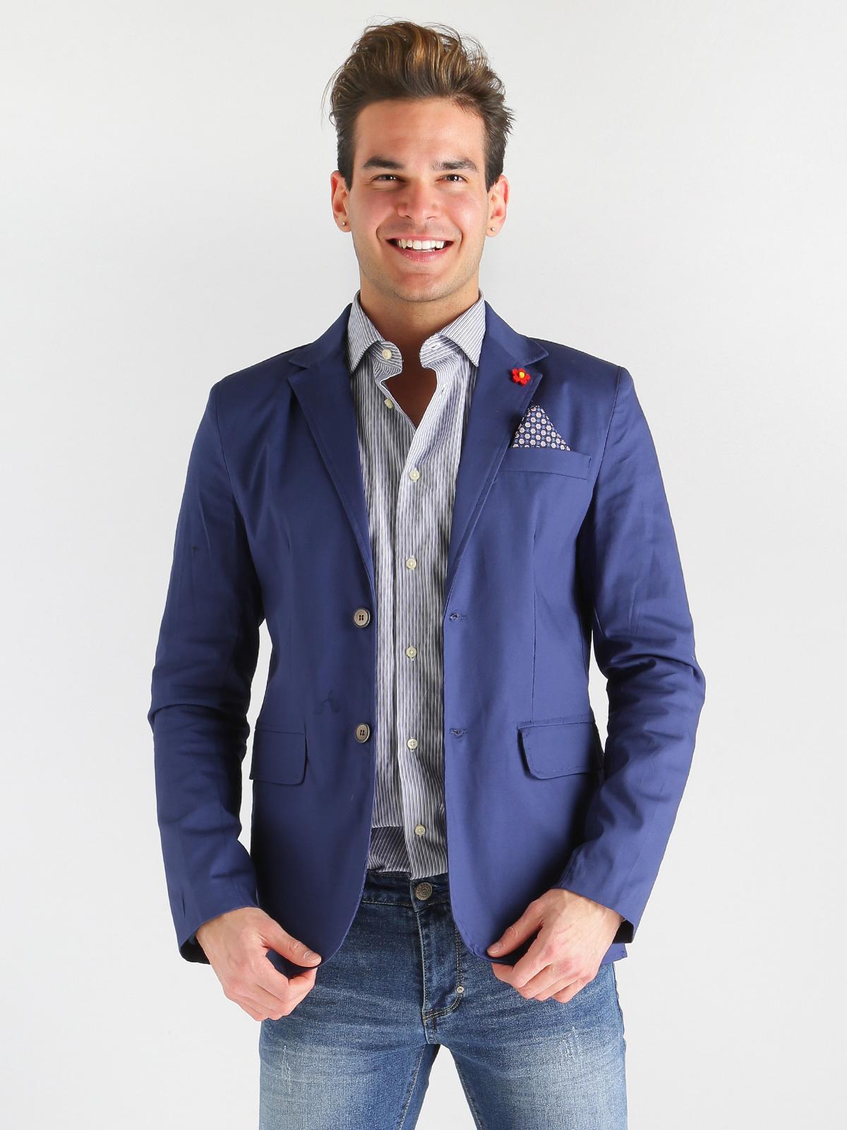 prezzo più basso 72497 a77e1 Giacca blazer elegante - Blu chroy | MecShopping