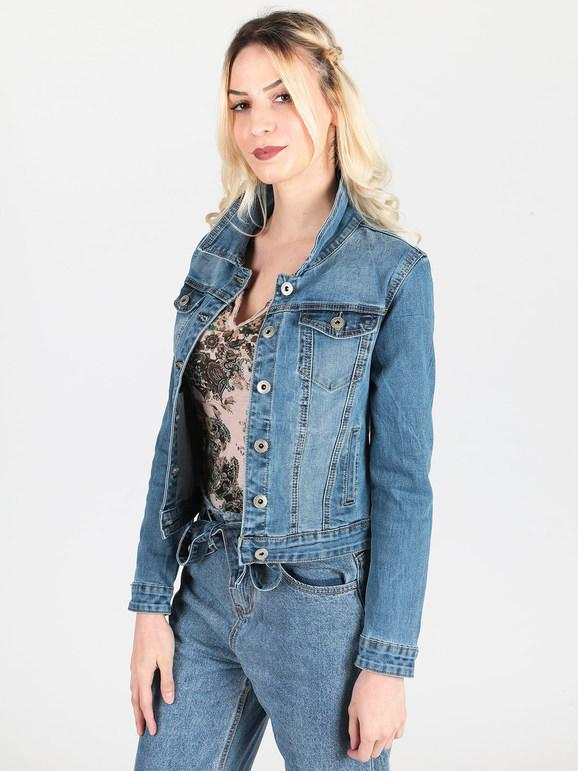 wholesale dealer c7673 12335 Giacca di jeans con taschini miss bonbon | MecShopping