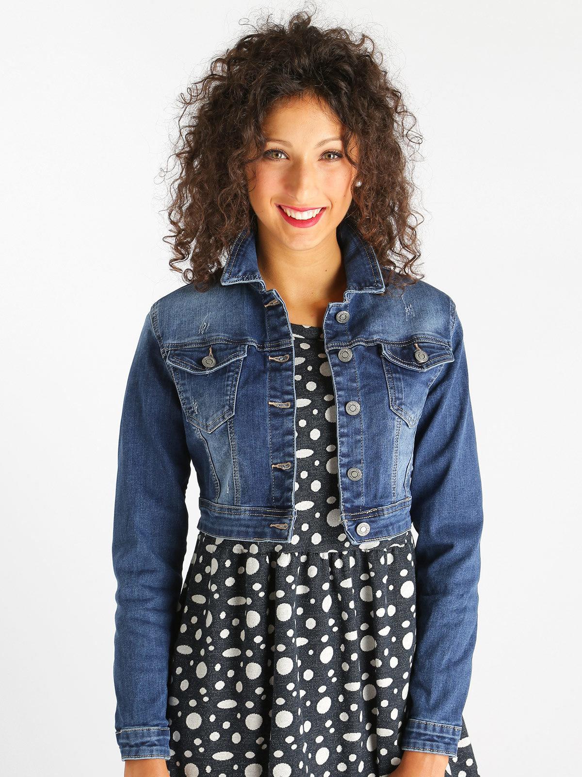 the best attitude aa213 a6a62 Giacca di jeans corta solada | MecShopping