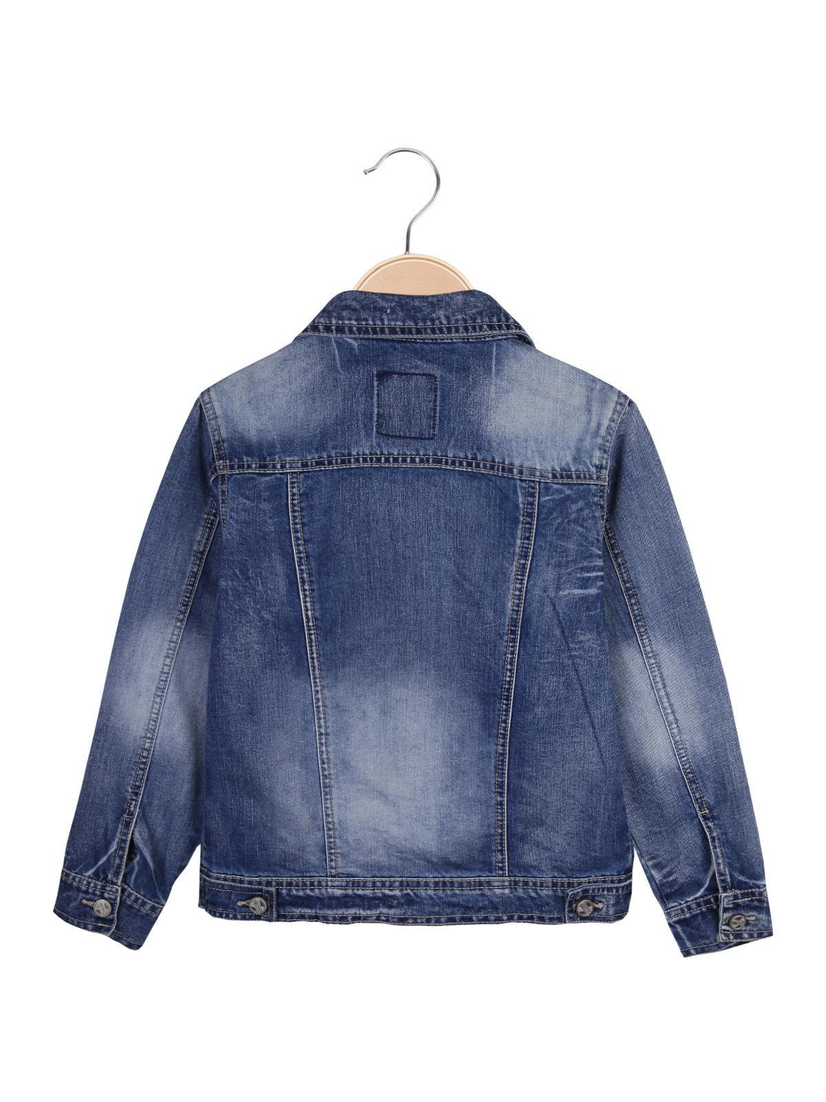Blu Scuro Cotone SOLADA Giacca di Jeans Donna