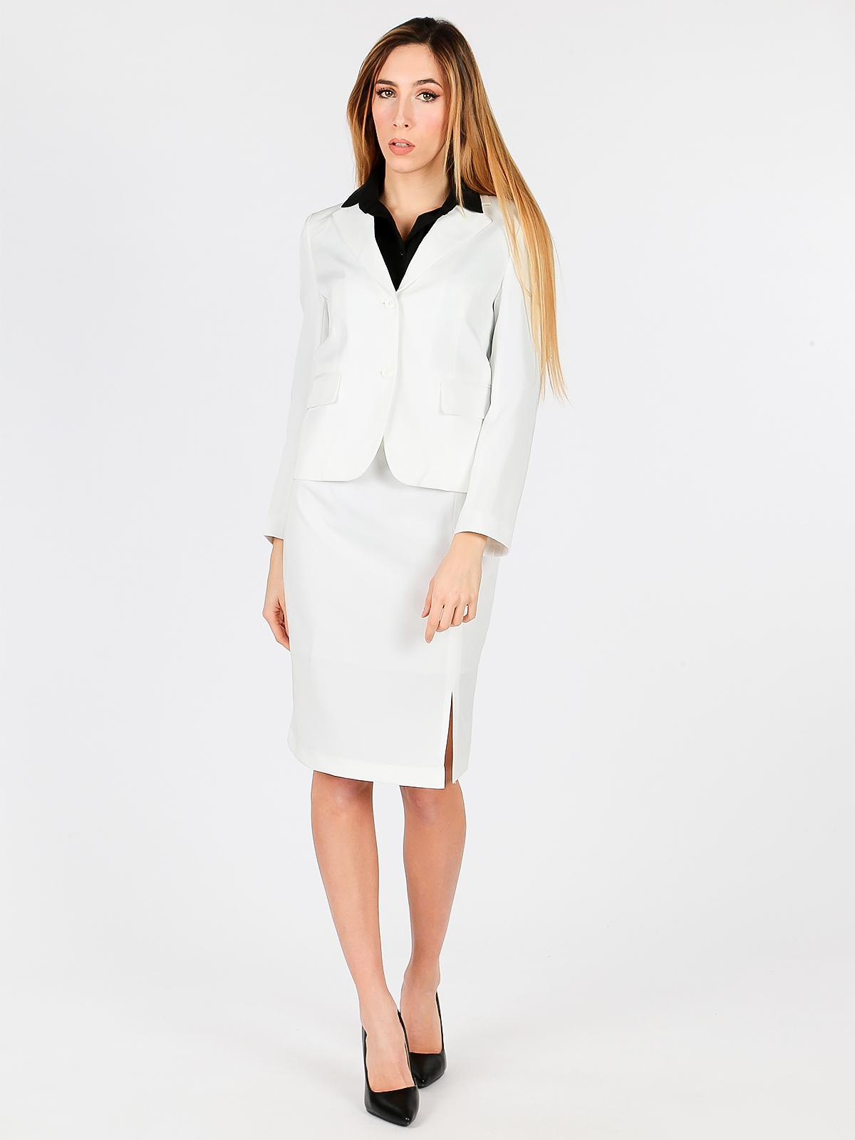 Giacca bianca elegante radaus   MecShopping