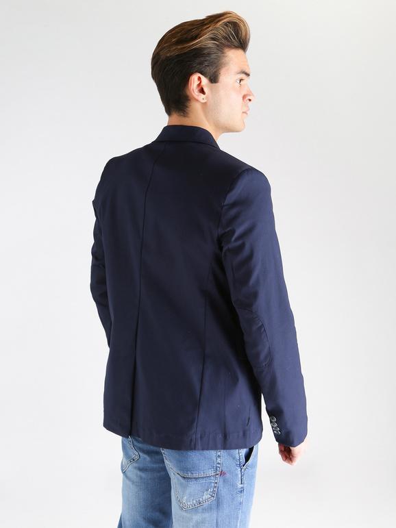 Giacca estiva uomo in cotone blu chroy | MecShopping