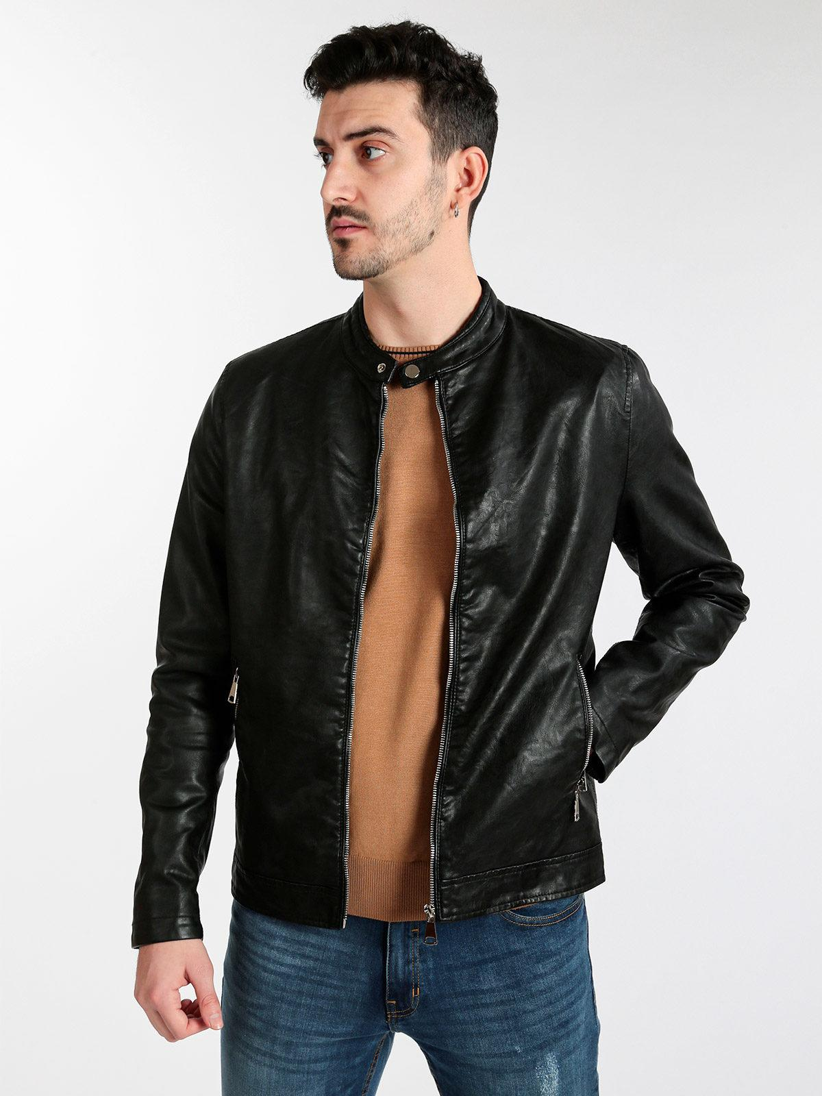solada Giacca biker in similpelle | MecShopping