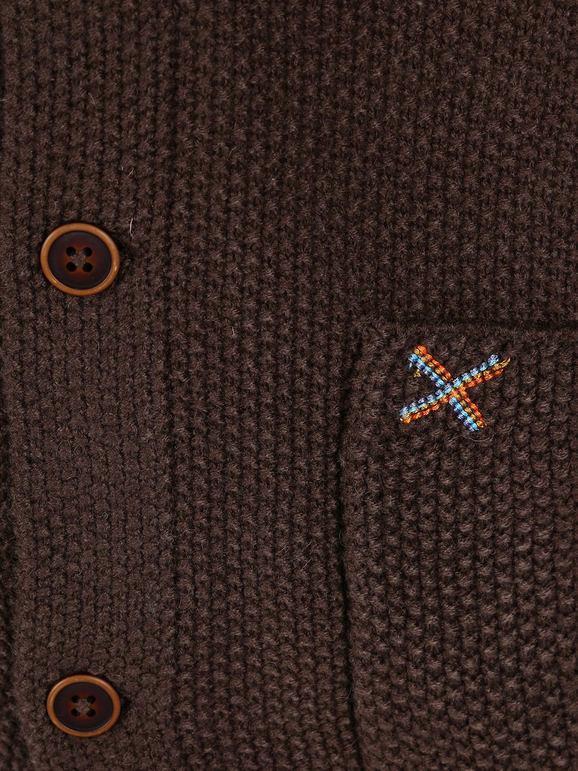 Giacca in maglia con taschini