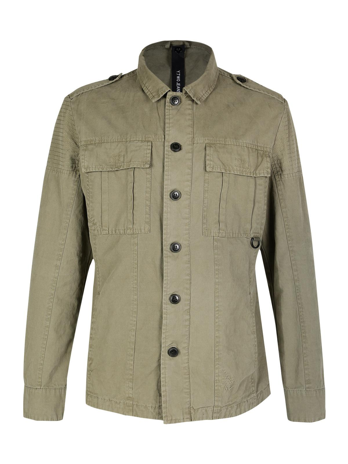 Giacca verde militare uomo y. two jeans | MecShopping
