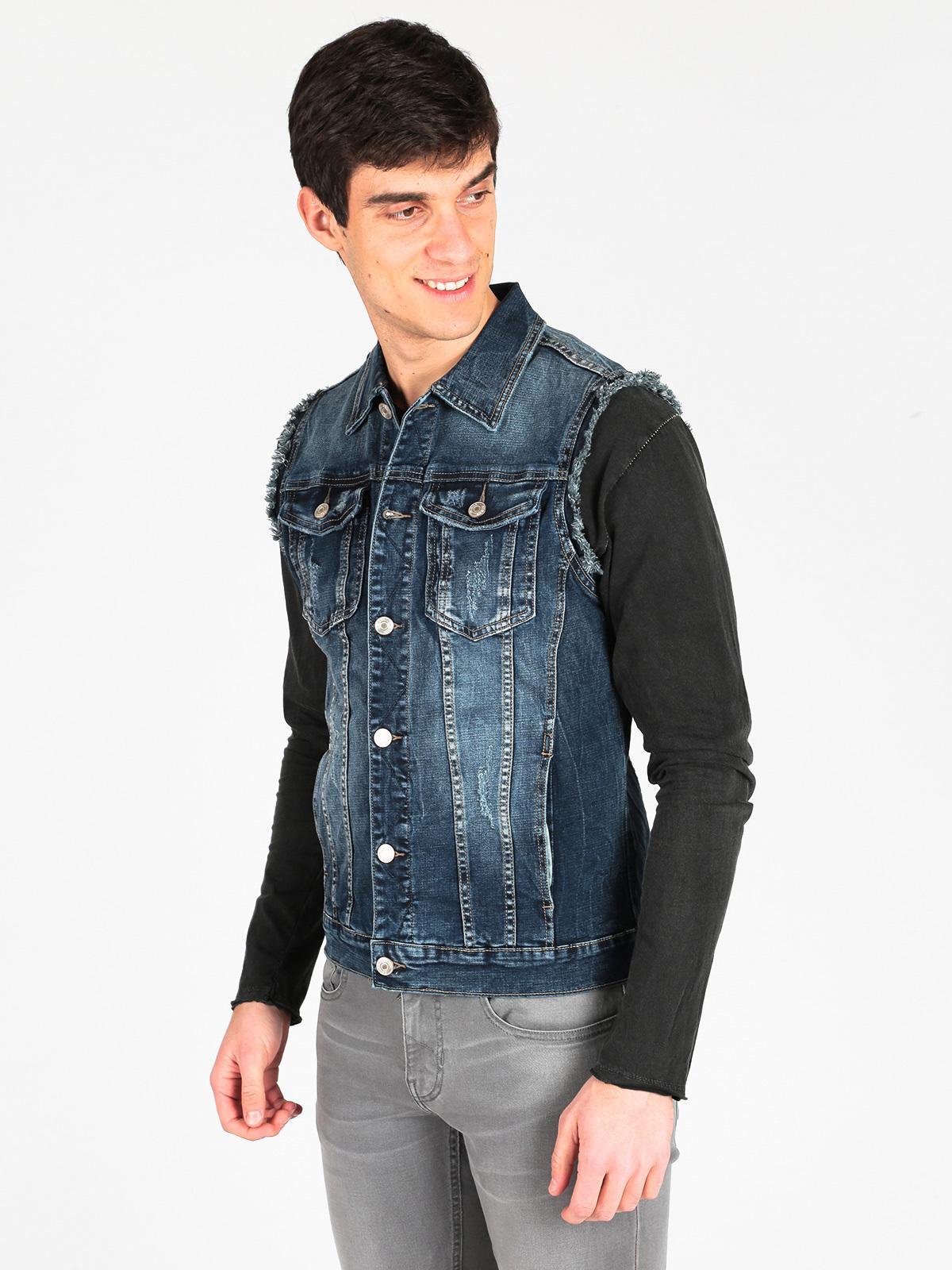 outlet store sale 3fa2e 67741 Gilet di jeans da uomo accross | MecShopping