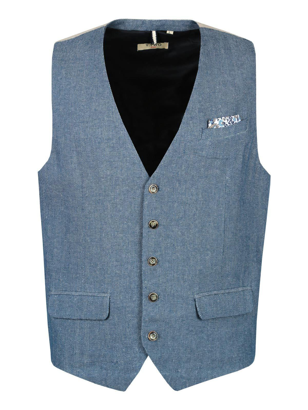 watch d32f2 ff2a0 Gilet elegante misto lino y. two jeans | MecShopping