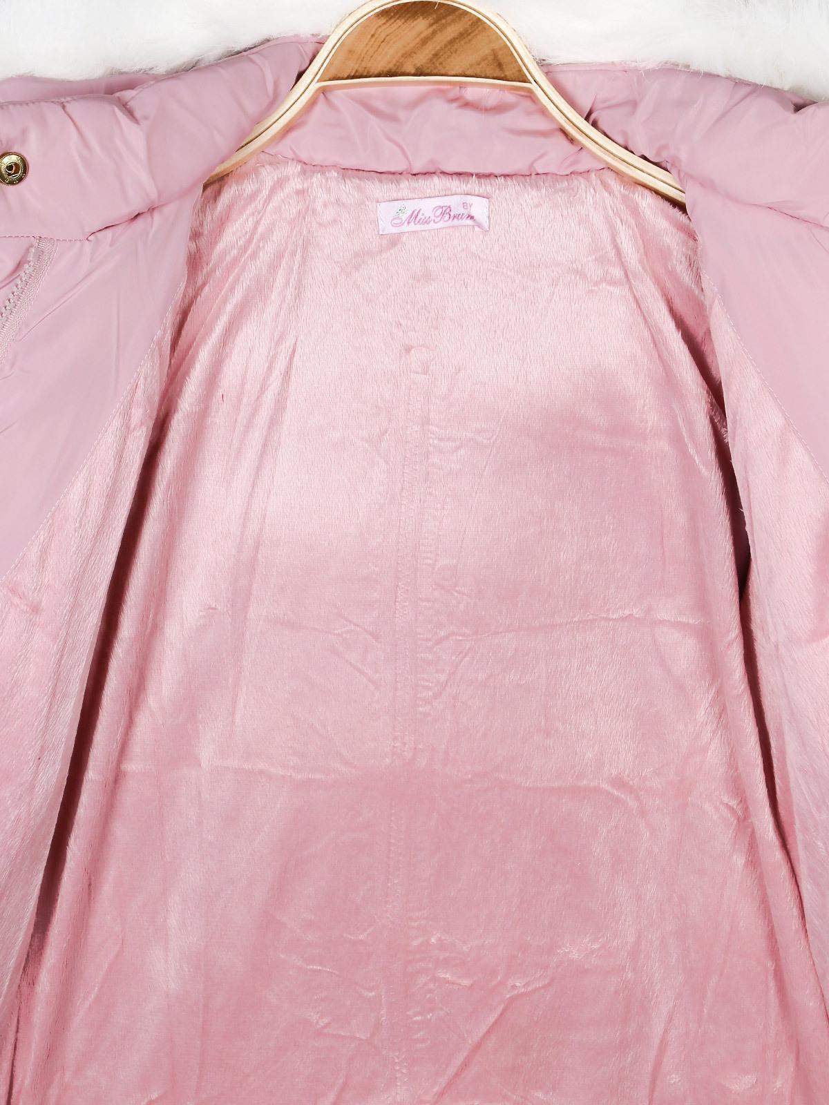 info for 27402 a484d Giubbotto rosa con cappuccio e pelo miss brum | MecShopping