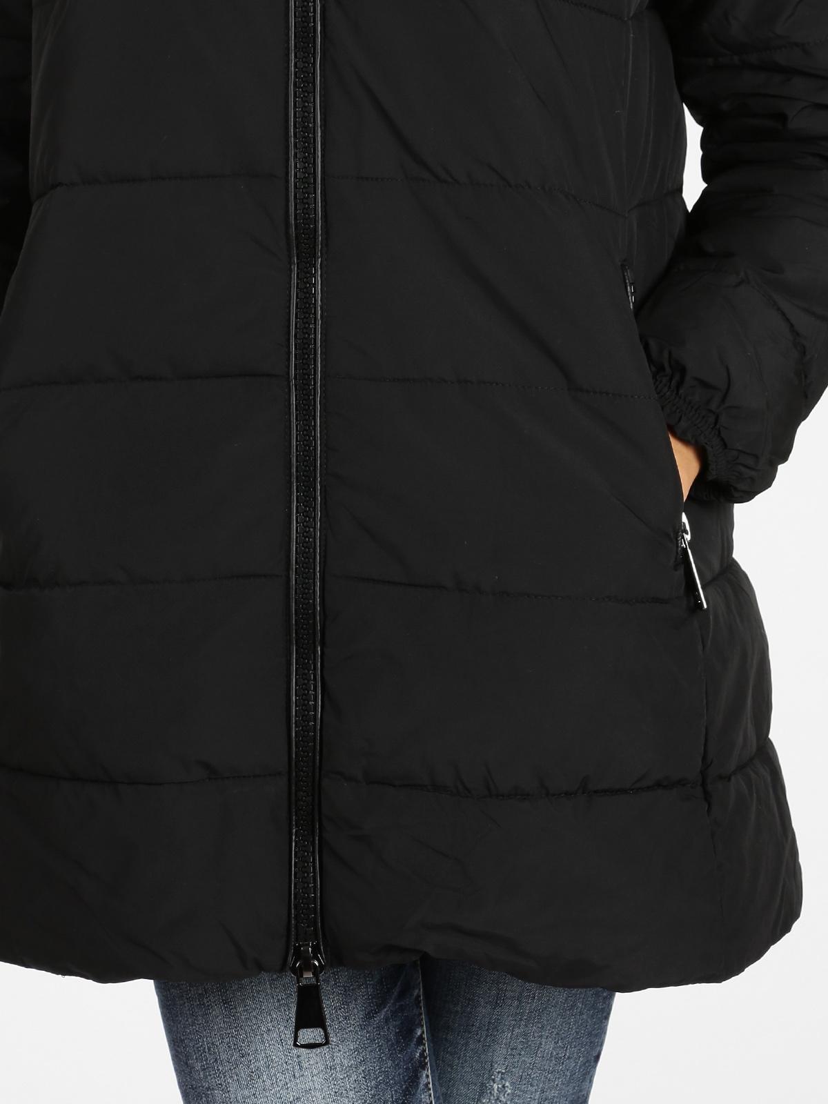 Giubbotto trapuntato con cappuccio nero solada | MecShopping