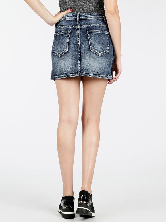 quality design abb8b 5d454 Gonna corta di jeans con perline smagli | MecShopping