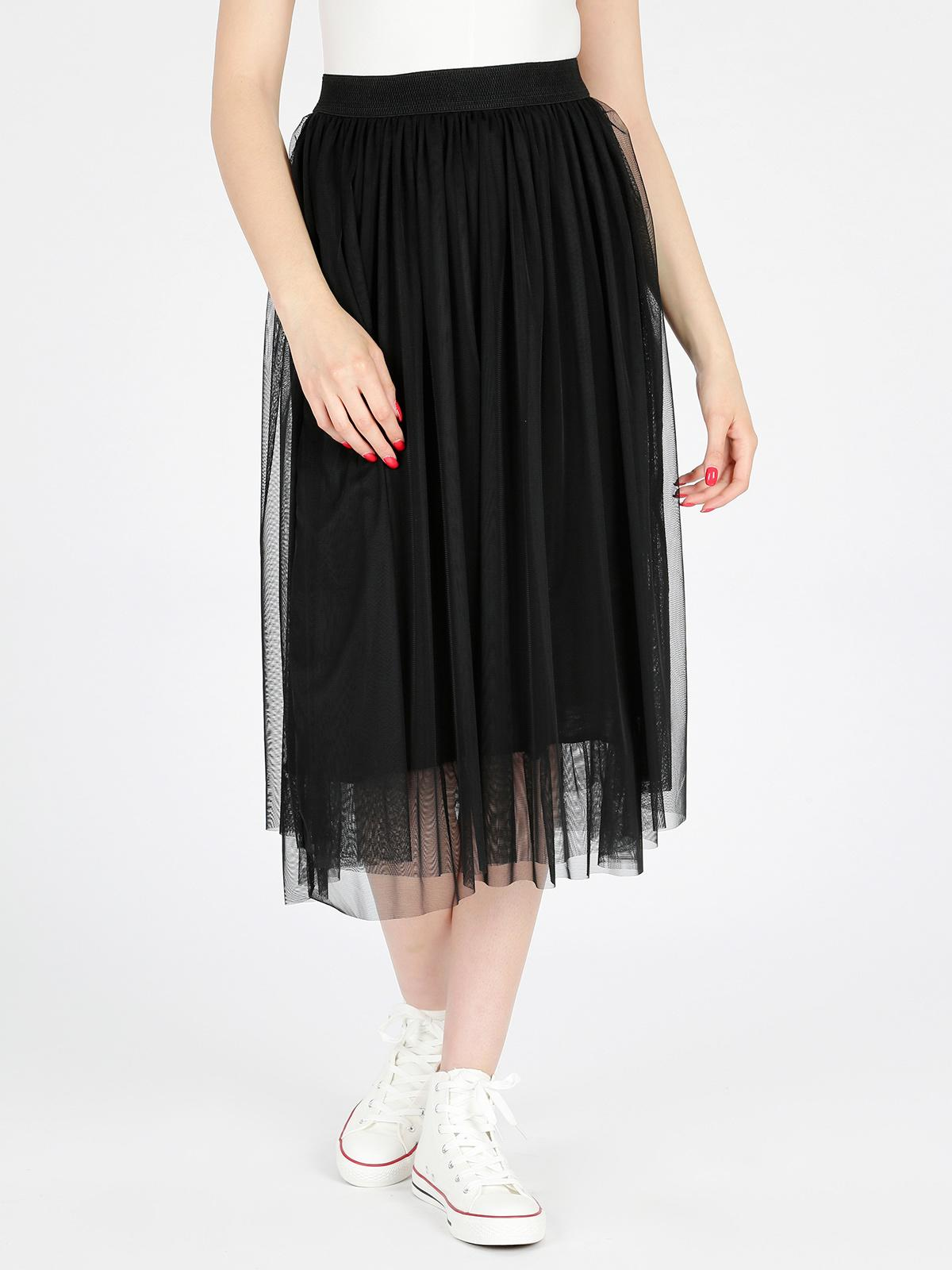 promo code 9637f 388d3 Gonna lunga in tulle - nero solada | MecShopping
