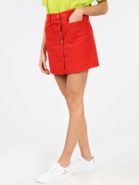 economico per lo sconto 9e28b bcc9d Gonna rossa di jeans solada   MecShopping