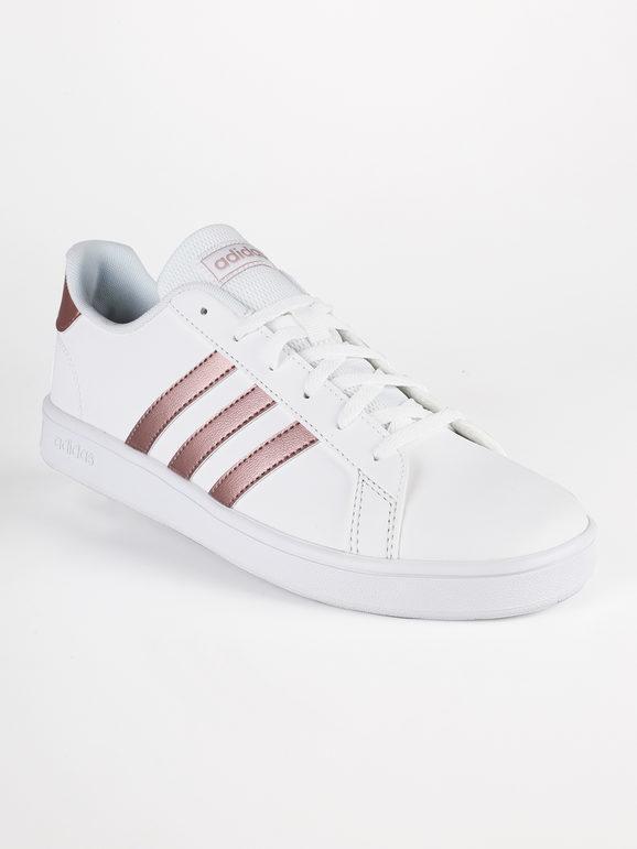 adidas donna grand court k bianco rosa