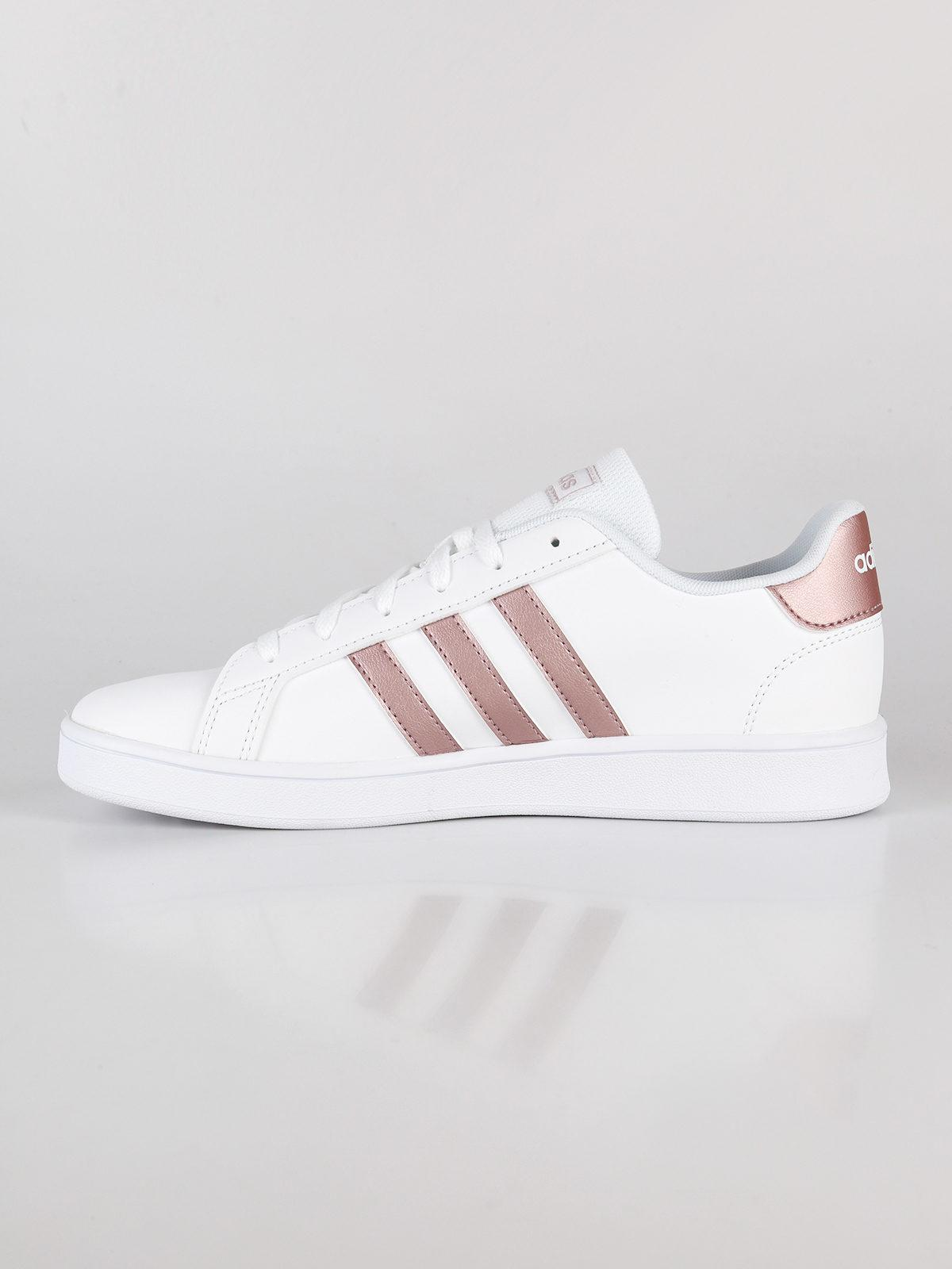 Grand court k sneakers basse biancorosa adidas | MecShopping