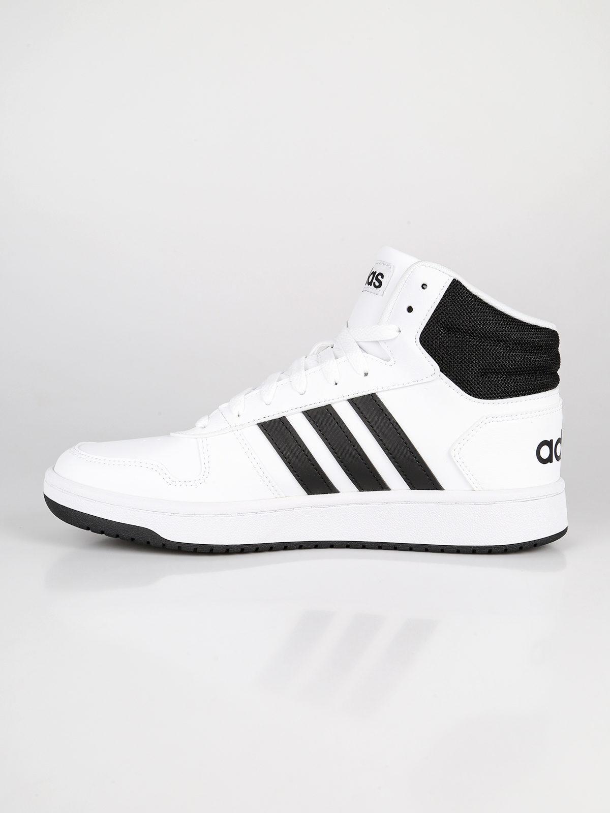 scarpe adidas hoops 2.0 bianche