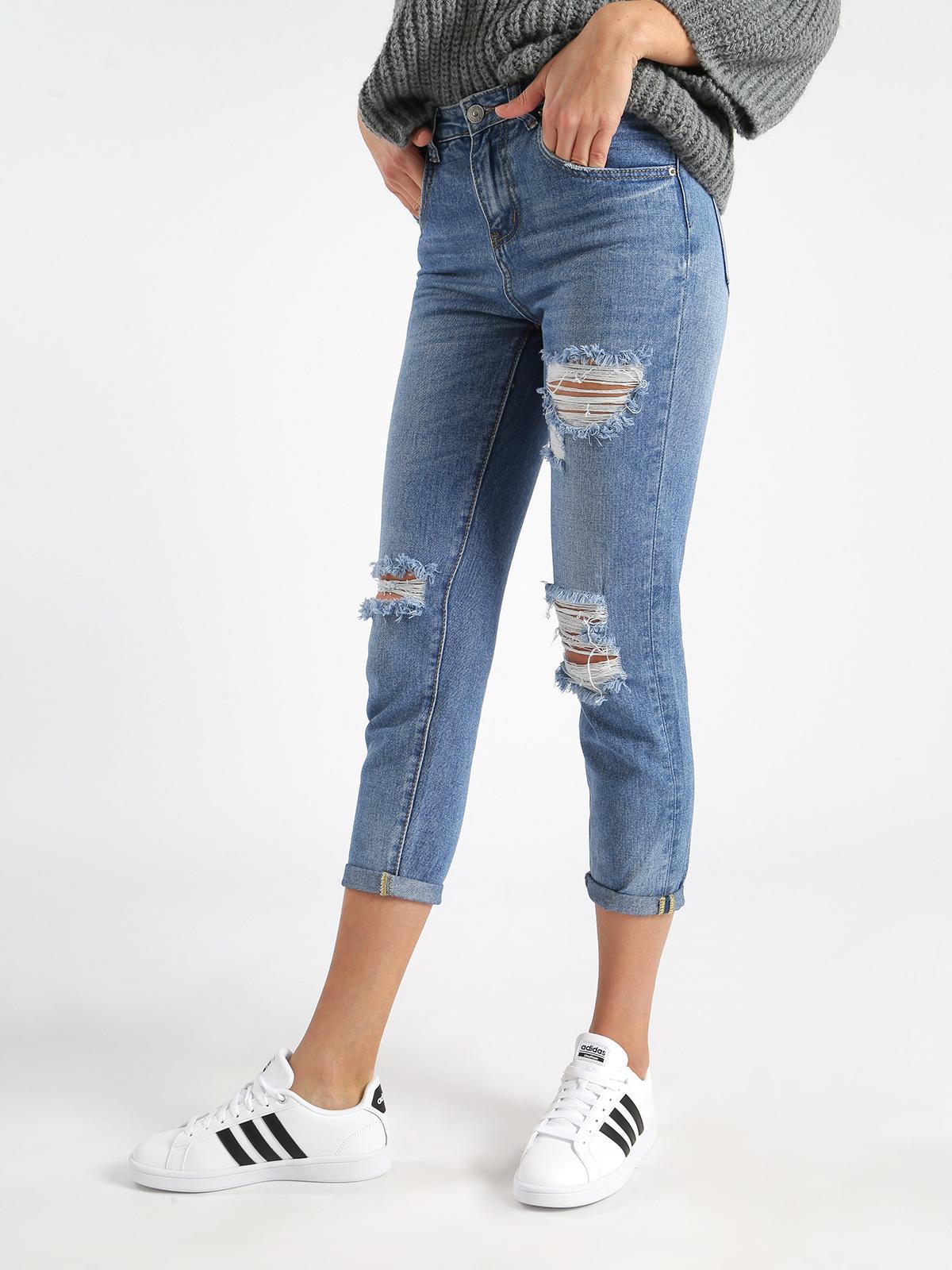 98a5ba3280 Jeans boyfriend strappati farfallina   MecShopping
