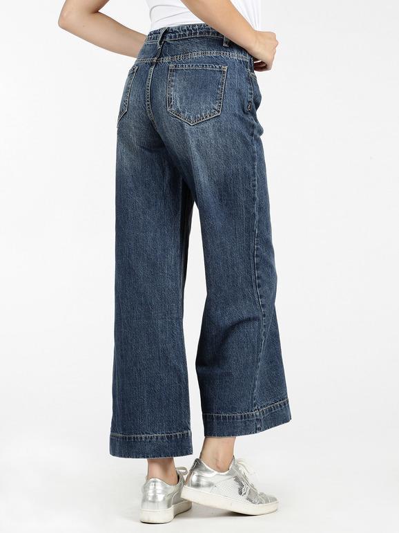 enorme sconto f75f3 0101c Jeans larghi a vita alta - push up ghiaccio&limone | MecShopping