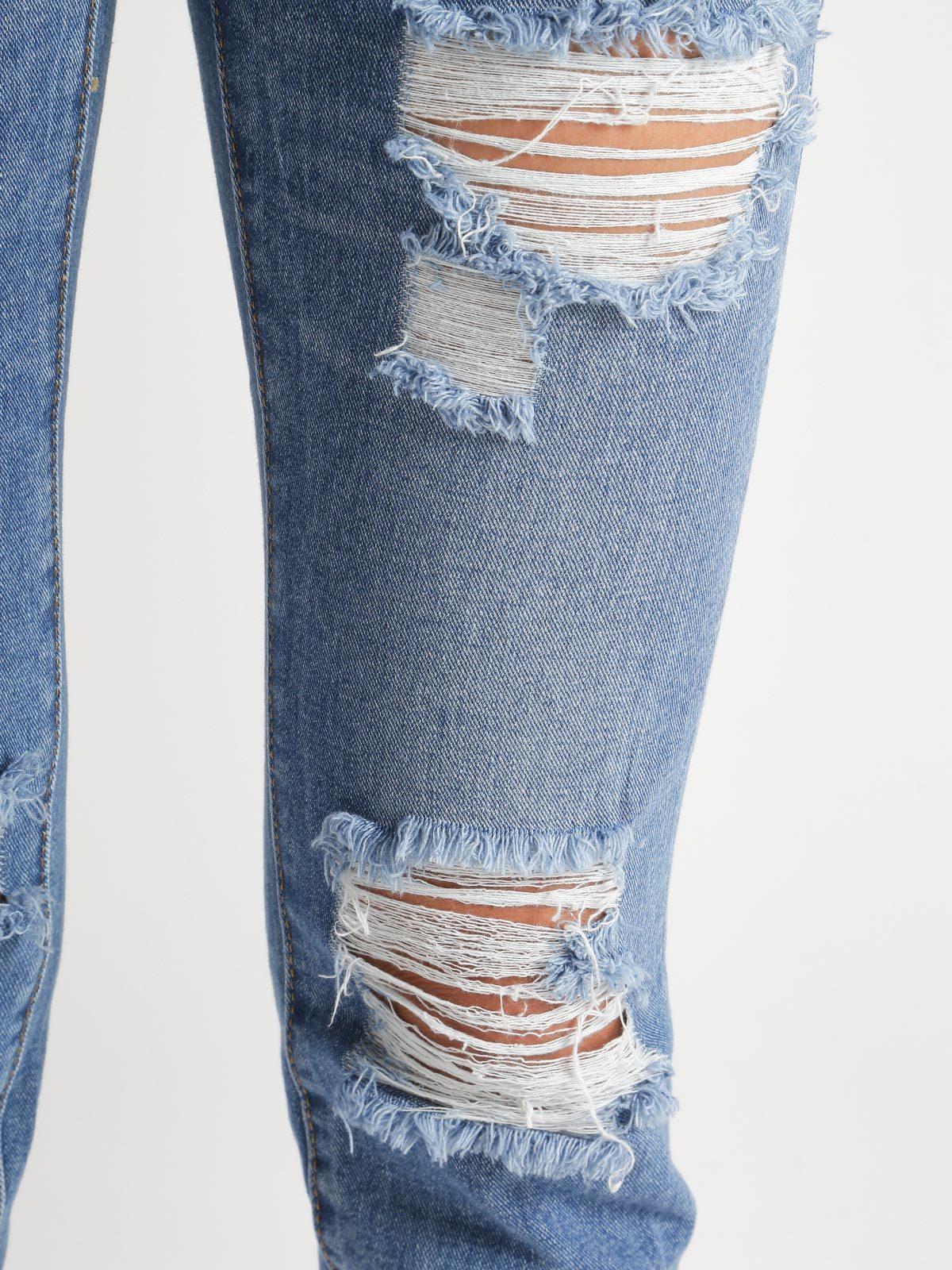 Jeans Rasgados Mujer Mecshopping