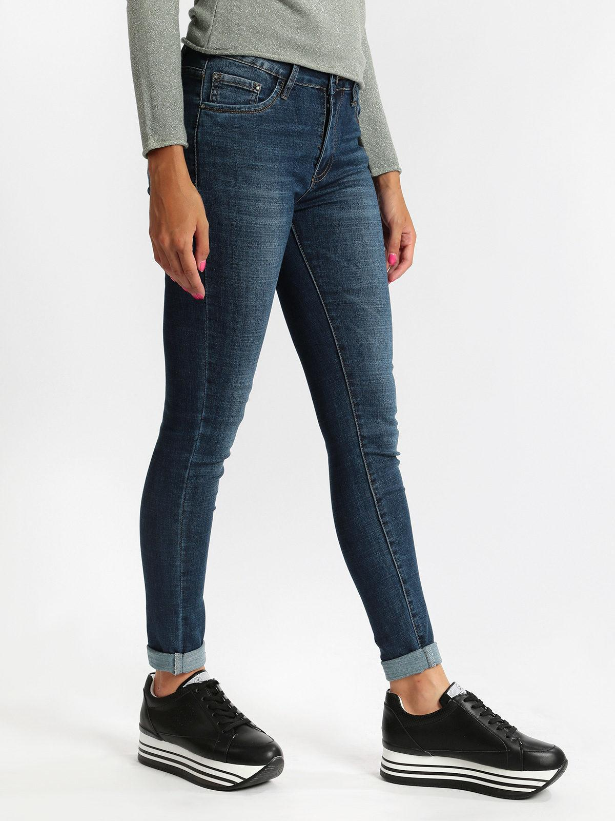 bello economico metà prezzo marchio famoso Jeans skinny a vita alta shiny design | MecShopping