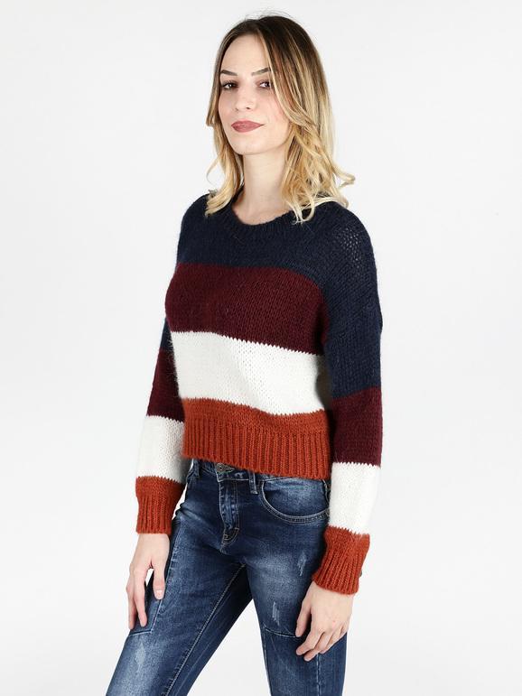 nuovo stile a9c1f de3f2 Maglione a righe colorate misto lana e mohair solada ...