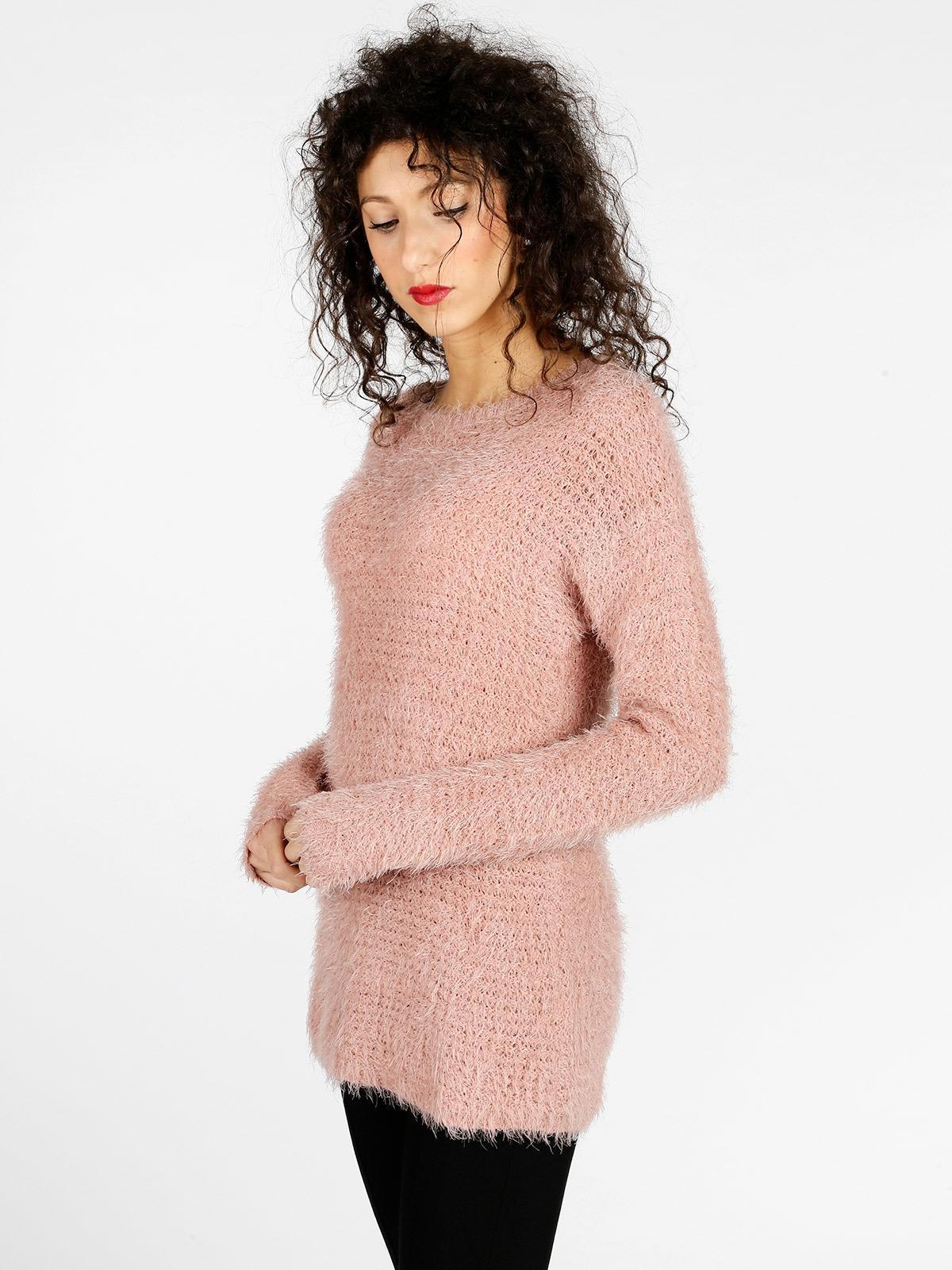 Maglione lungo peloso e morbido donna
