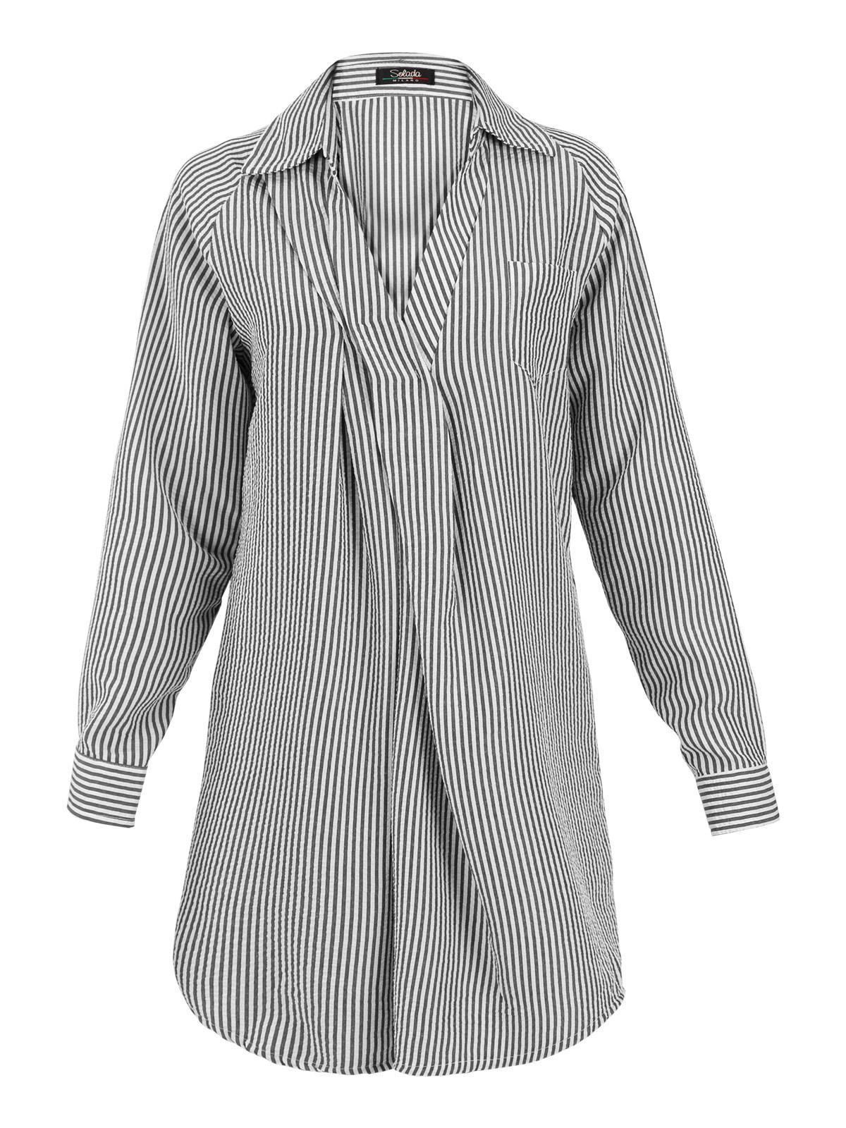 9caed9d722 Maxi camicia a righe solada | MecShopping