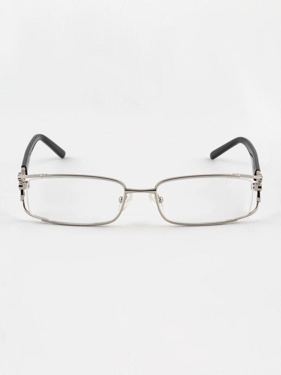 Occhiali trasparenti metallizzati