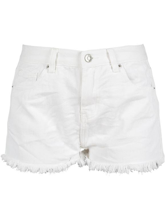 Pantaloncini donna pinocchietti shorts fiori farfalle bianchi cotone nuovi