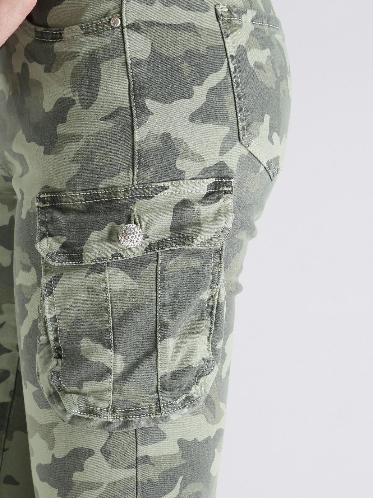 Pantalones Con Bolsillos De Camuflaje Mujer Mecshopping