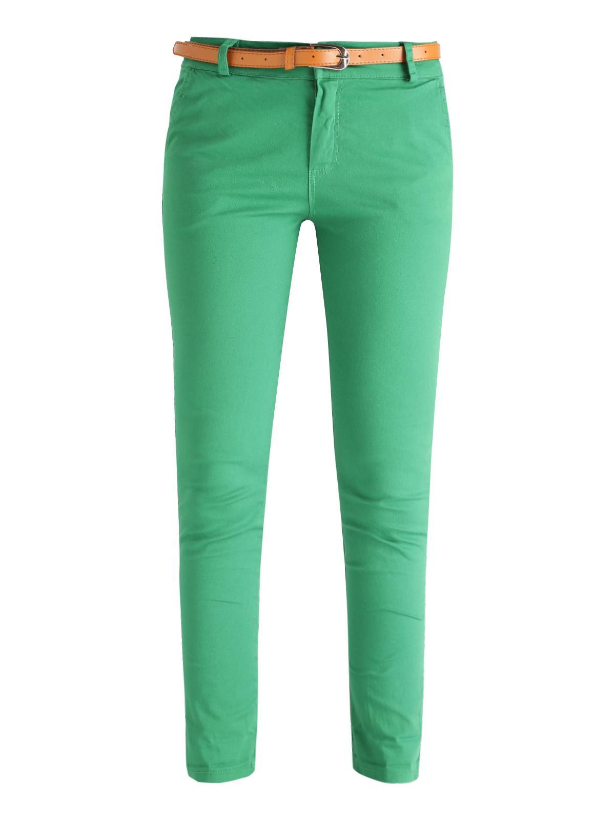 9b8841abfa1c Pantalones de algodón con cinturón mujer | MecShopping