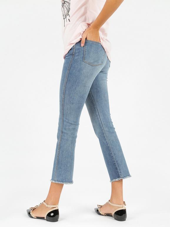 talla 40 e34e9 1f2bc Pantalones vaqueros con flecos mujer | MecShopping