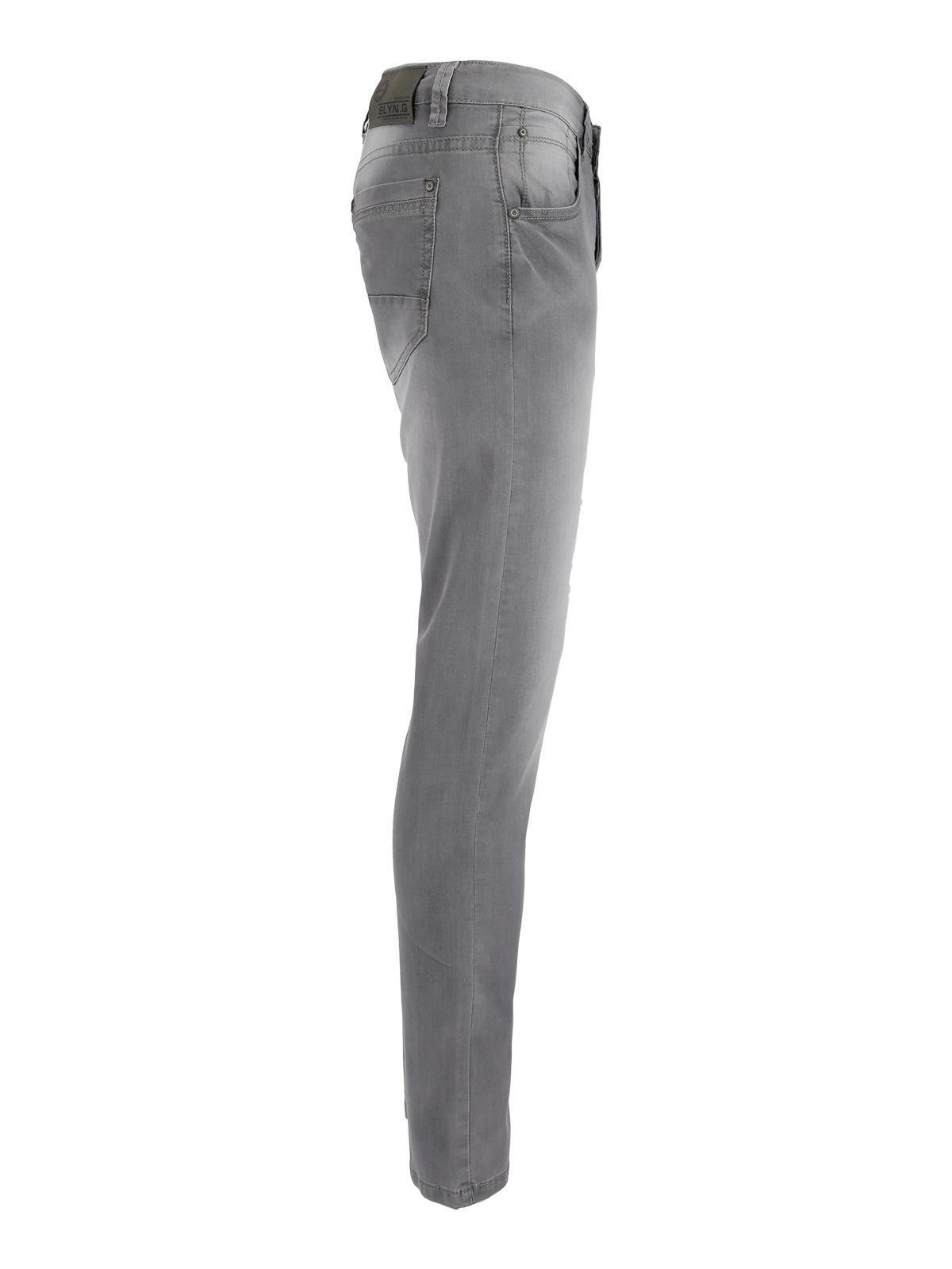 Pantalones Vaqueros Elasticos Ajuste Estrecho Hombre Mecshopping