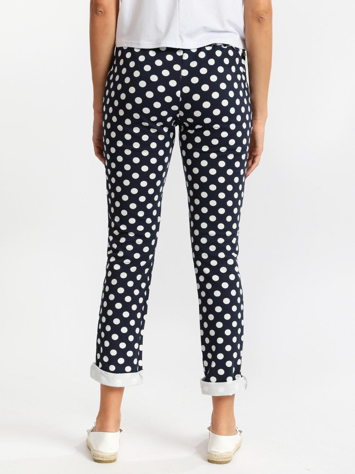 in vendita aa715 79e3b Pantaloni a pois in cotone solada   MecShopping