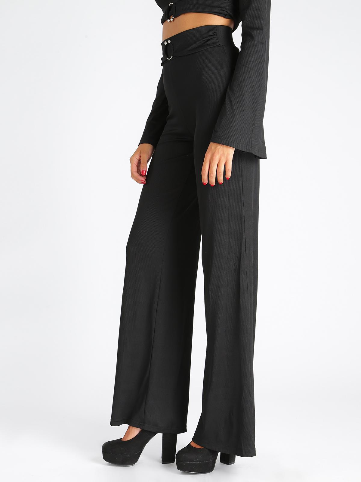 0b4cf5db85 Pantaloni a zampa vita alta elasticizzati solada | MecShopping