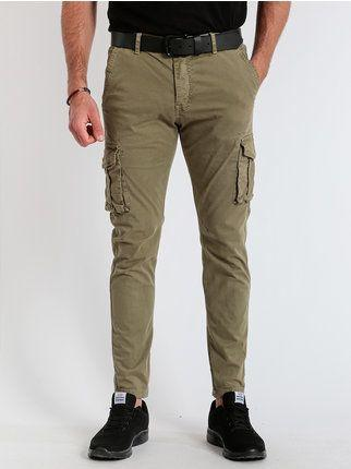 Pantalone X-cape chinos mod Andy tasconi verde militare