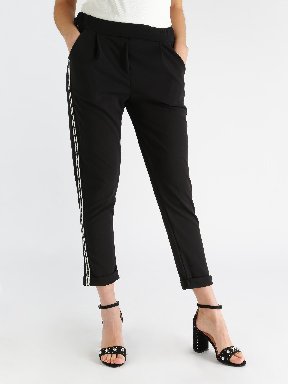 a18bafb00a Pantaloni con striscia laterale e borchie new collection | MecShopping