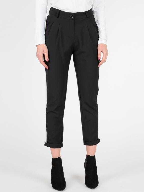 taglia 40 a5379 21f93 Pantaloni neri con striscia bianca solada | MecShopping