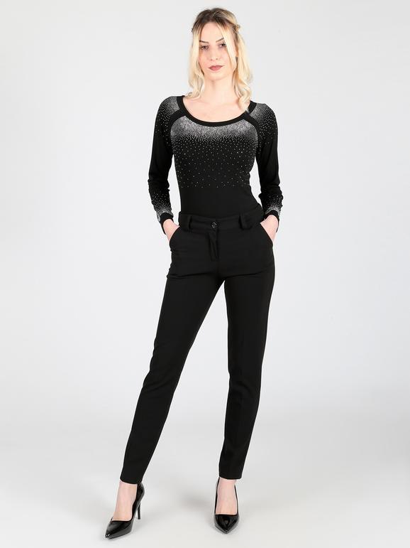 Pantaloni push up eleganti nero frenetika   MecShopping