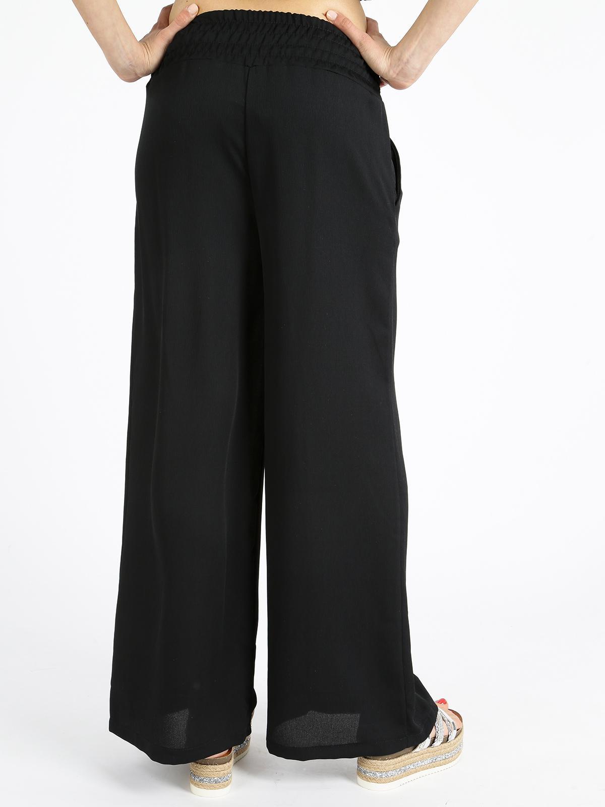 pantaloni a palazzo Donna con fiocco nero Pantapalazzo neri