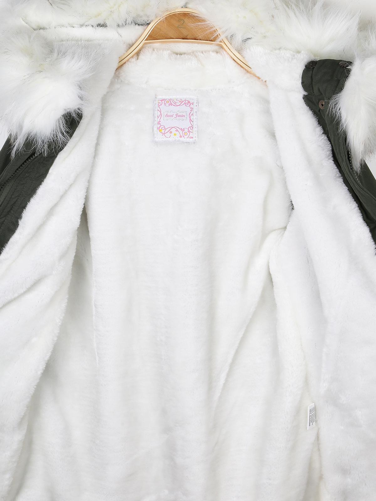 buy popular cffe6 722d9 Parka con pelo bianco sweet junior | MecShopping