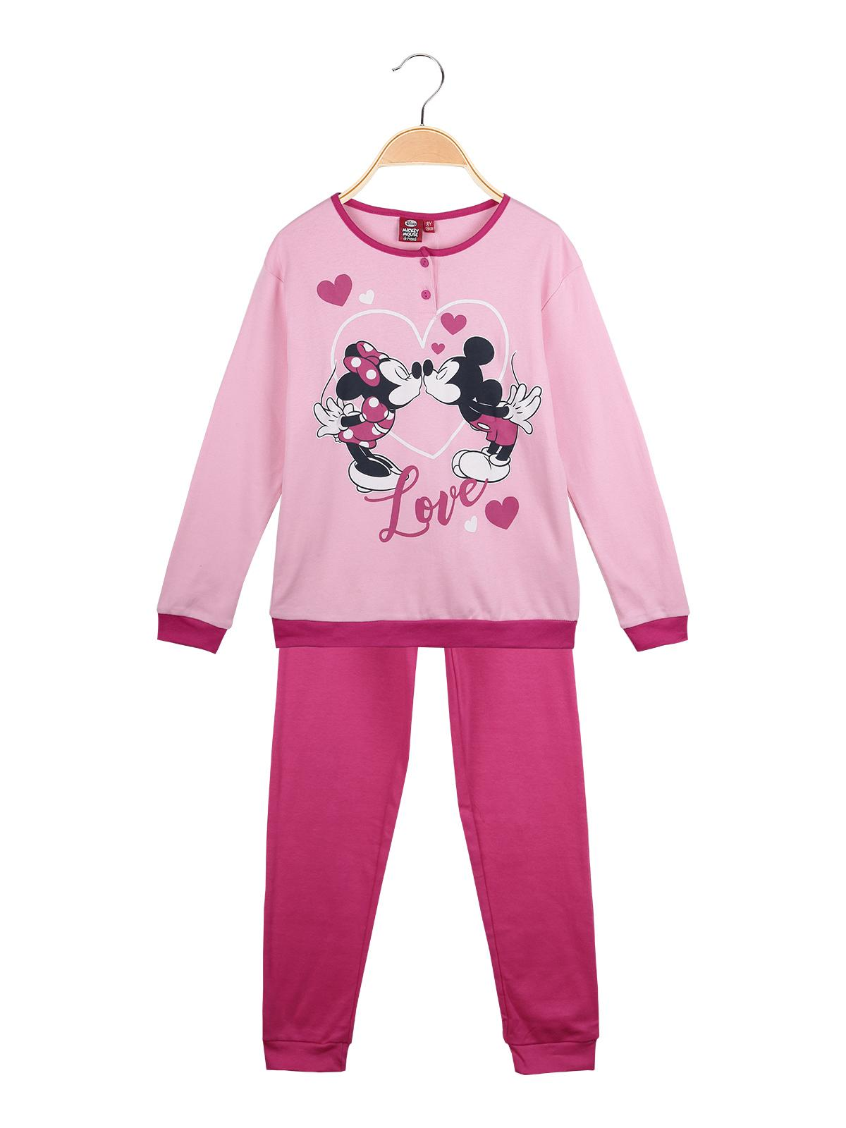 più recente dc253 bc346 Pigiama bambina con stampa topolino e minnie - rosa disney ...