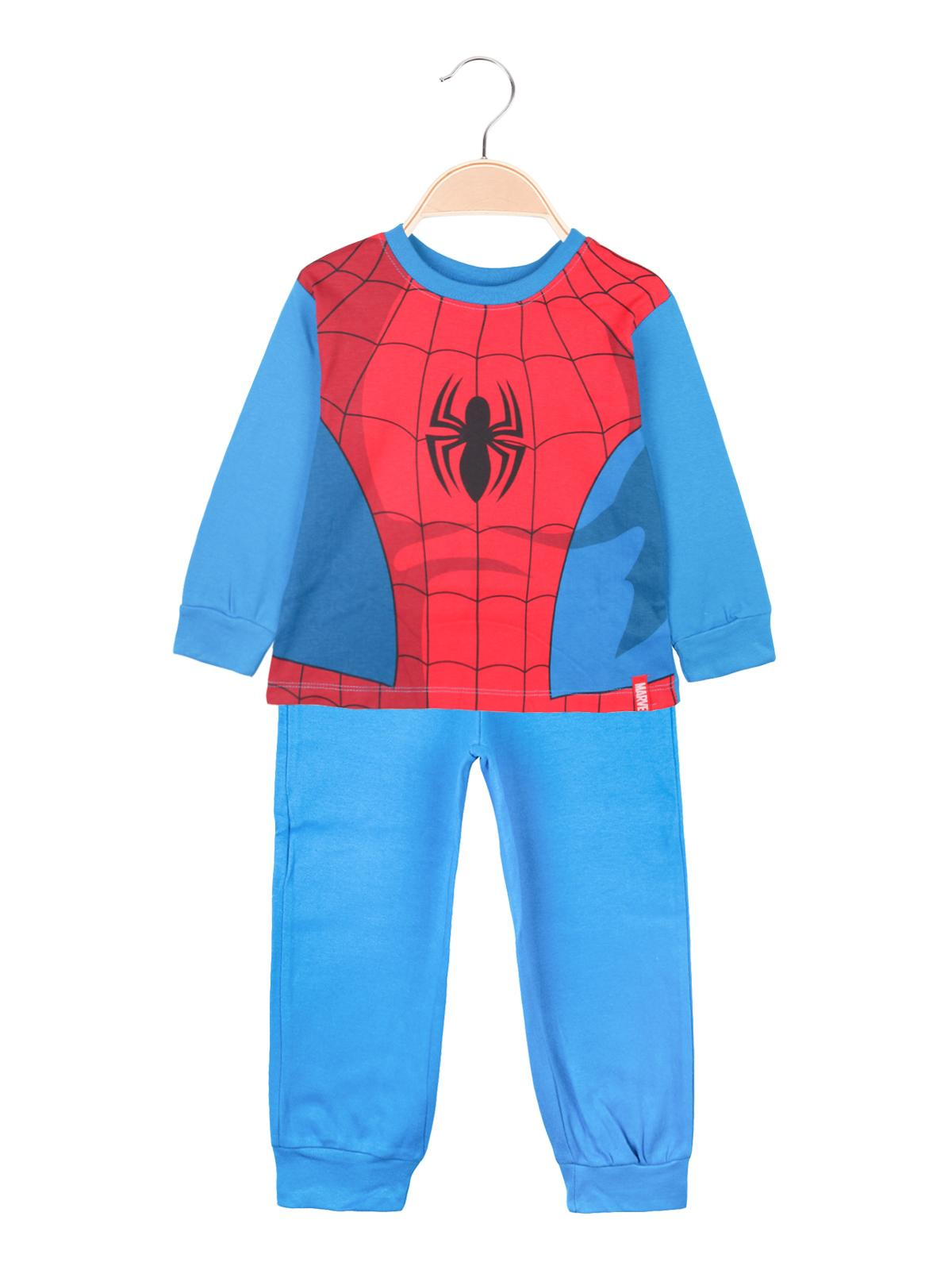 Pigiama Disney Spiderman Uomo Ragno Bambino 100/% Cotone Interlock Maniche Lunghe