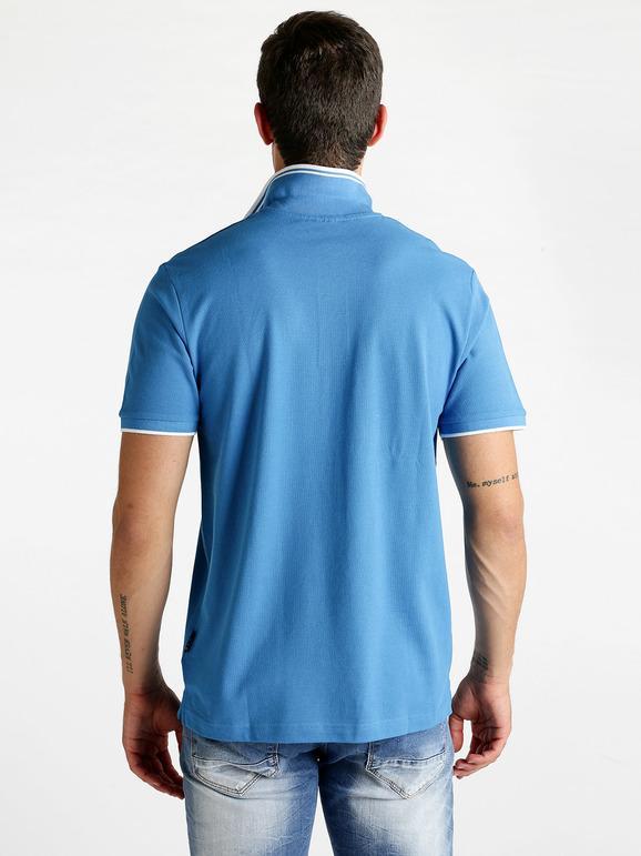 Marc O /'Polo Polo a maniche corte in cotone blu