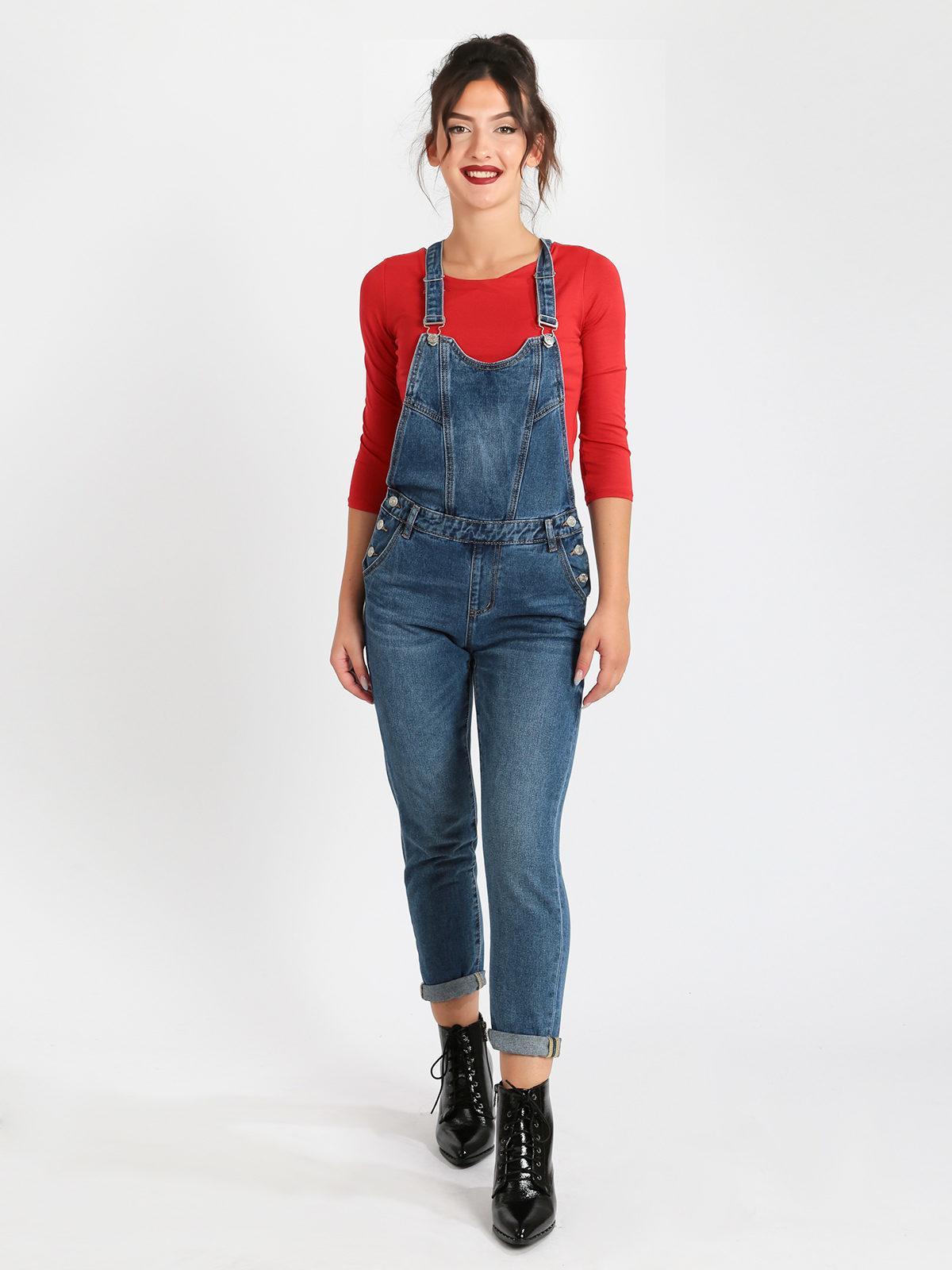 new product 0bfab 7e480 Salopette di jeans baggy solada | MecShopping
