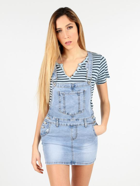 the latest a5e7c 428f0 Salopette di jeans con gonna miss two | MecShopping