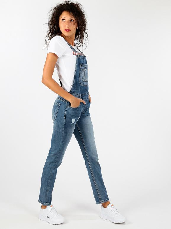 uk availability aa0ad 61de6 Salopette di jeans con strappi solada | MecShopping