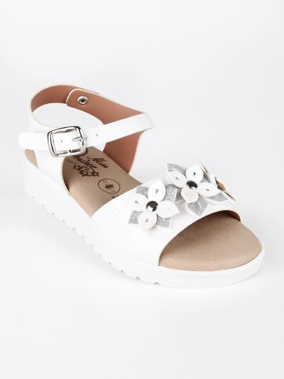 Sandaletti con fiori