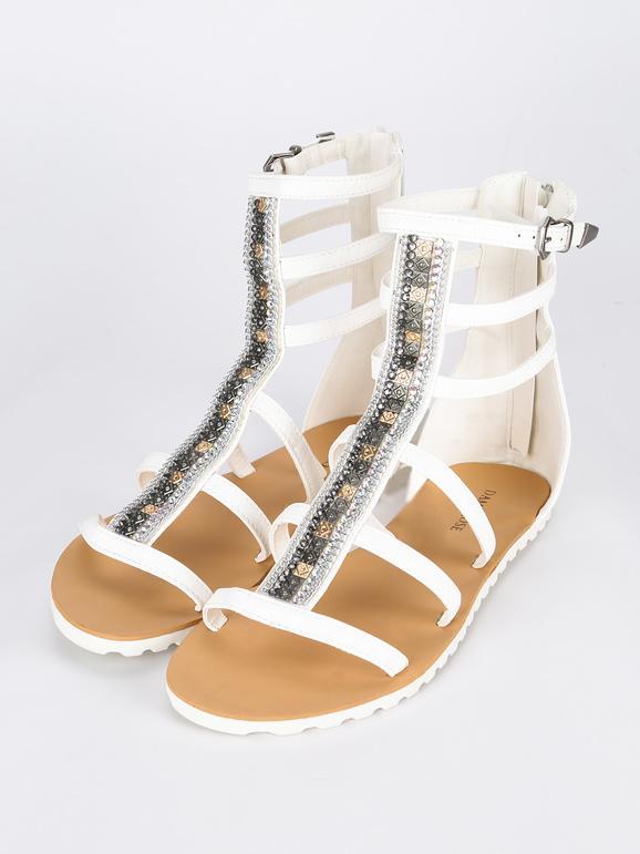 Sandali alla romana con strass